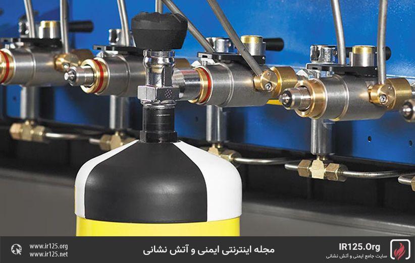 پرکردن سیلندر دستگاه تنفسی