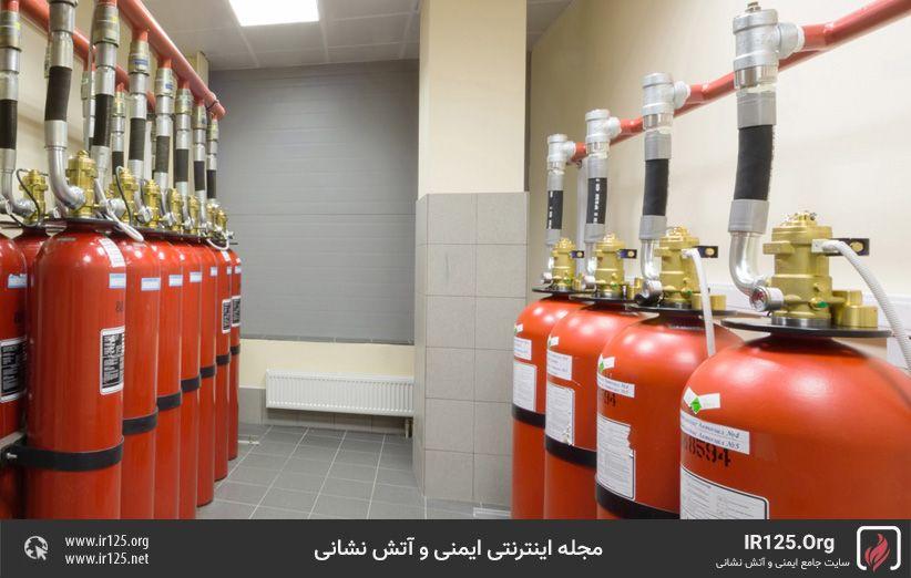جایگزینی سیستم های اطفاحریق هالون و CO2 موجود با سیستم های اطفاحریق FM200