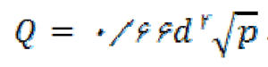 فرمول محاسبه نازل مناسب