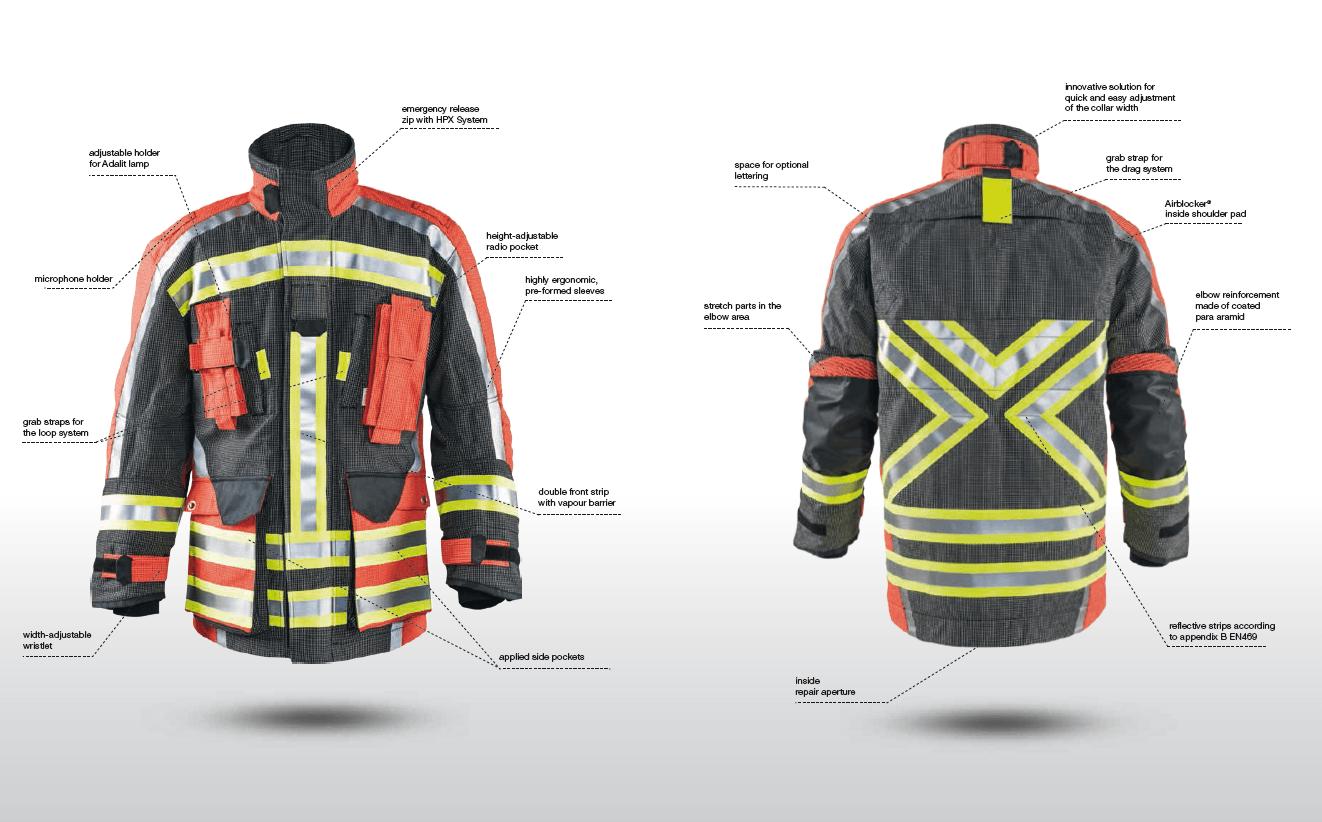مشخصات کت آتش نشانی تکس پورت
